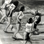 26 Riproduzione quadro Ondina traguardo Olimpiade